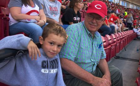 Jim & Jack at Reds game