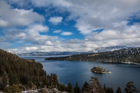 Lake Tahoe on a Cold Winter's Day