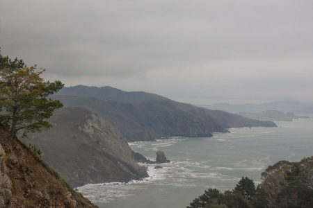 The coast at Stinson Beach Overlook