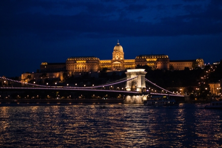 Budapest Castle District at night